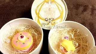 Q-Pot X Sailor Moon: Starry Night Macaroon Key Chain & Crystal Star Macaroon Necklace