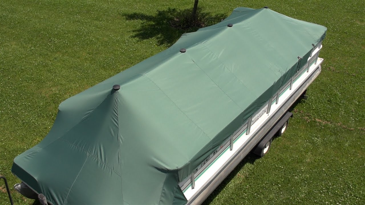 how to make a pontoon boat cover support