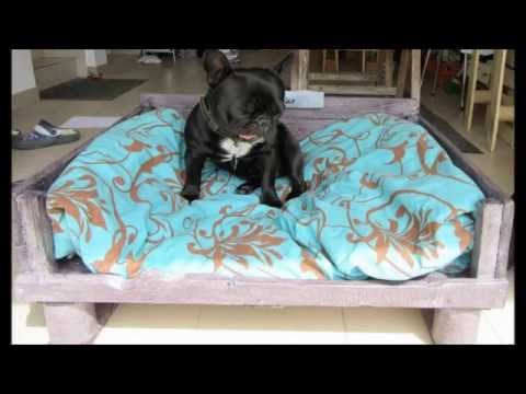 Canap pour chien en palette youtube for Canape en palette