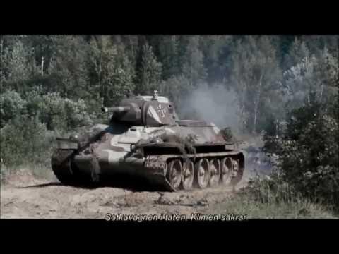Finnish (captured Soviet) T-34 + KV-1 tanks attack Soviet ...