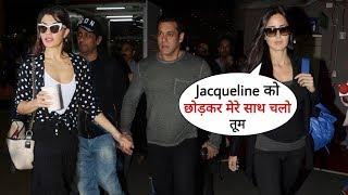 Salman Khan, Jacqueline and Katrina Kaif Together Spotted at Mumbai Airport | After Dubai Show