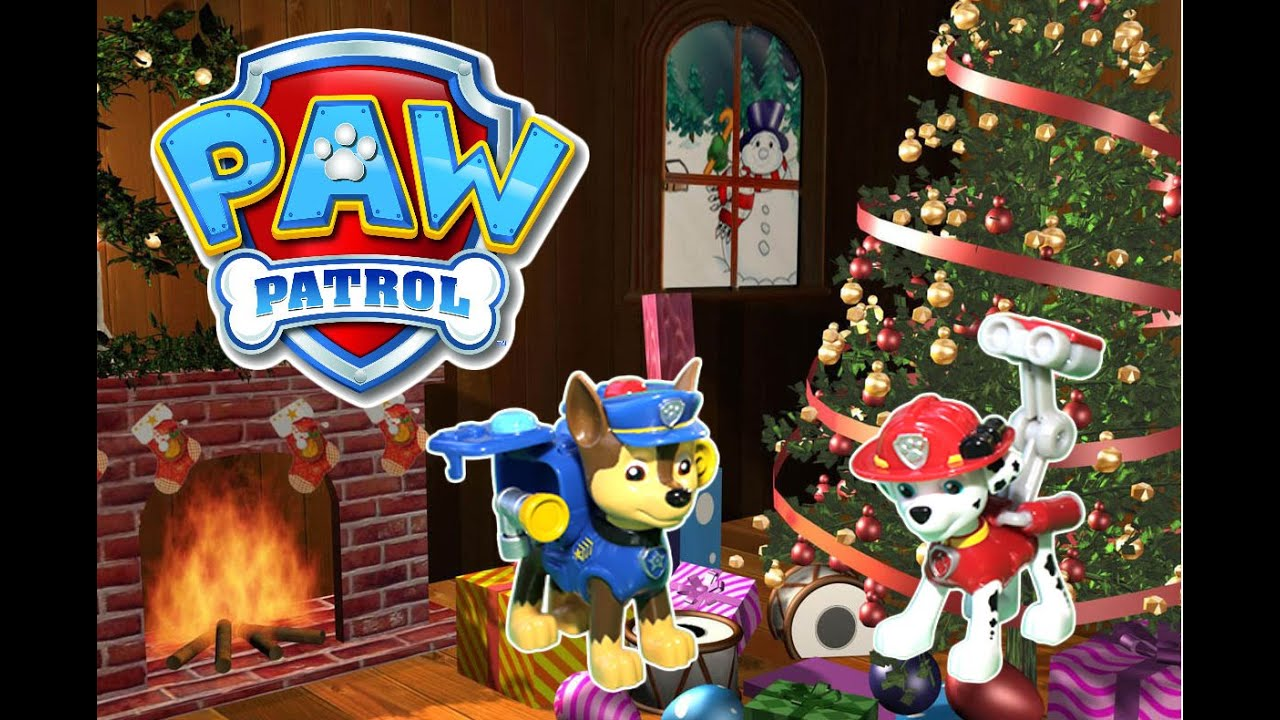 paw patrol nickelodeon parody video a christmas story paw patrol toys by epic toy channel - Paw Patrol Christmas Tree Decorations