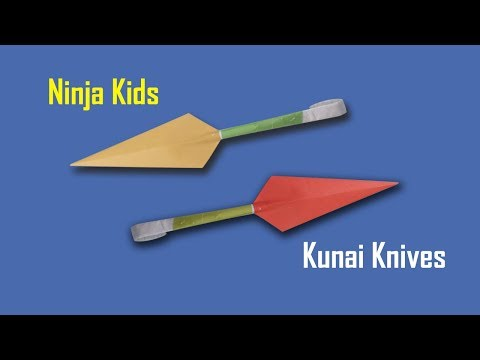 Simple Origami Paper Kunai Knives for Ninja Kids - How to Make a Kunai Knife with Paper - Naruto