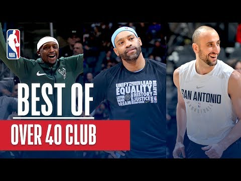 Manu, Vince, and Terry Still Gettin' it Done!!! NBA Over 40 Club 2018