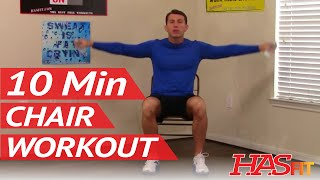 Download the free hasfit app: android http://bit.ly/hasfitandroid -- iphone http://bit.ly/hasfitios this 10 minute chair workout for seniors is a perfect way...