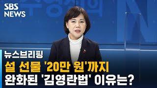 """[인터뷰] 전현희 """"설 선물 20만 원까지 올린 이유는…"""" / SBS / 주영진의 뉴스브리…"""