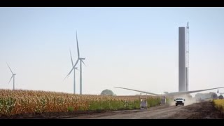 Amazon Wind Farm Fowler Ridge Video