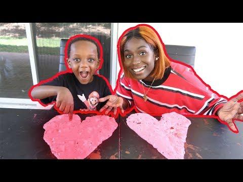 DIY Valentine's Day Slime Challenge