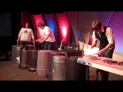"""Unconventional Percussion from 3 """"freedom rockers"""""""