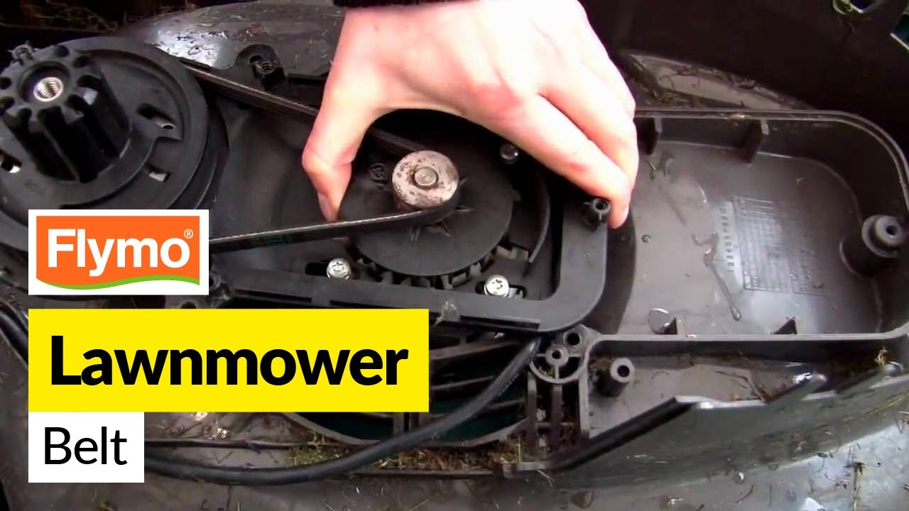 How to replace a Flymo belt on Flymo lawnmower  YouTube