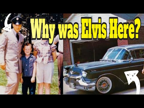 Elvis drops Rex Mansfield off after Basic Training Summer 1958 The Spa Guy