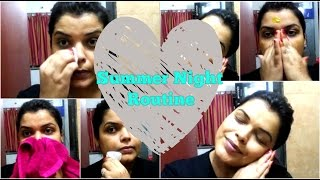 summer night skin care routine for oily skin dry skin easy routine for glowing skin in hindi