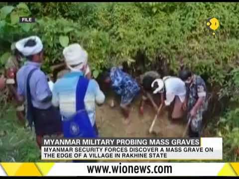 Myanmar military probing mass graves