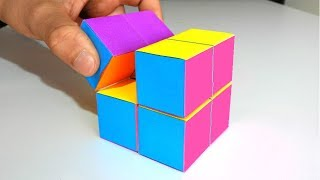 How to make an INFINITE MAGIC CUBE from Origami Paper. Amazing crafts
