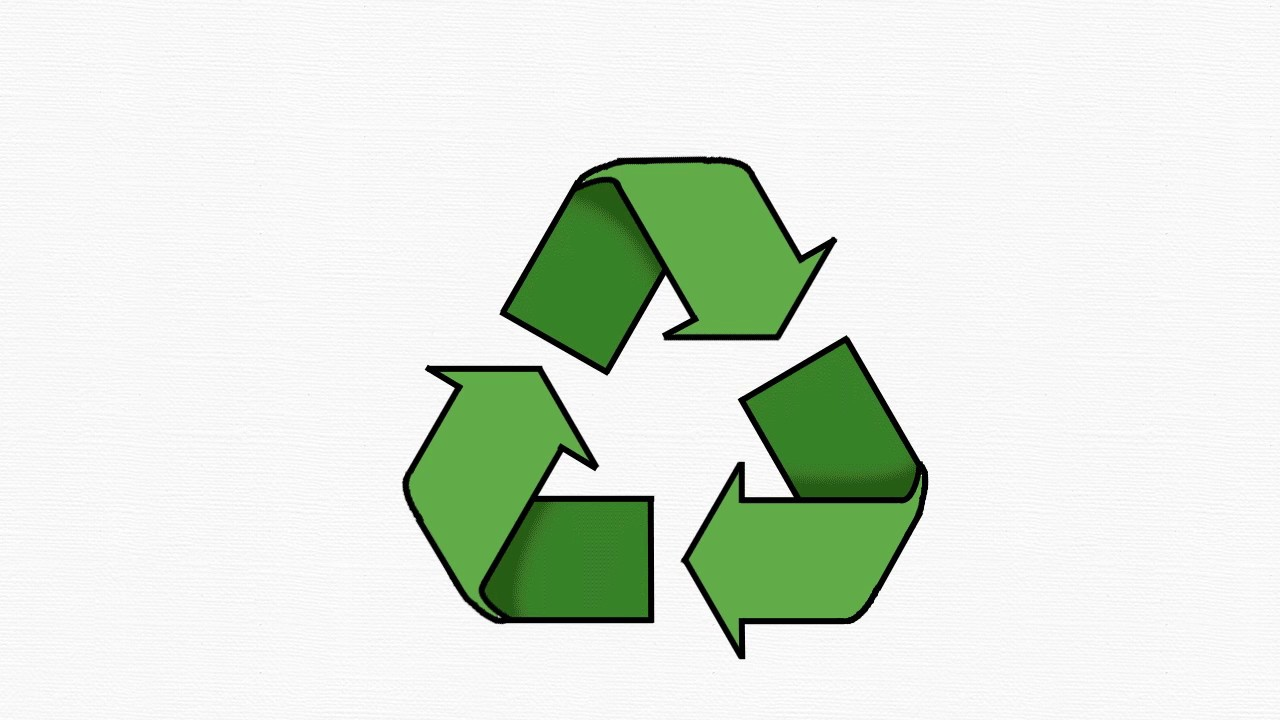 Kyoodoz Lets Draw Recycling Recycle Symbol Youtube