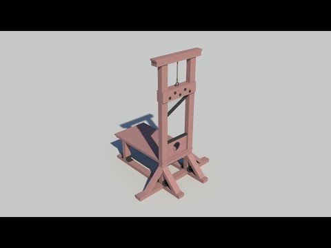 Maya tutorial : How to model a Guillotine