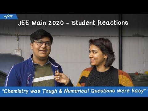 "JEE Main 2020 Paper Analysis | Student Reaction - ""Maths Was Too Lengthy"""