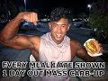 MASS CARB-UP BEFORE A SHOW | EVERY MEAL I ATE TO CARB- UP ON THE DAY BEFORE A SHOW