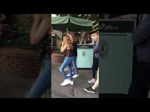 The Walking Dead Cast Chandler Riggs, Brighton Sharbino, and Kyla Kenedy at Disneyland
