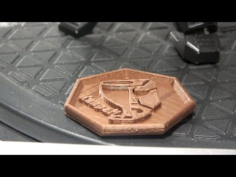 """My """"Maker Coin"""" Copper PLA Flying Bear P902"""