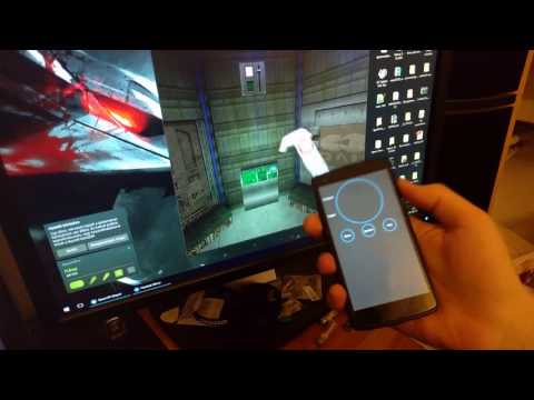 VR motion controller for SteamVR with Leap Motion and an android phone