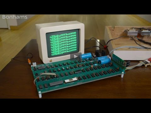 Apple-1 Computer, featured in History of Science and Technology