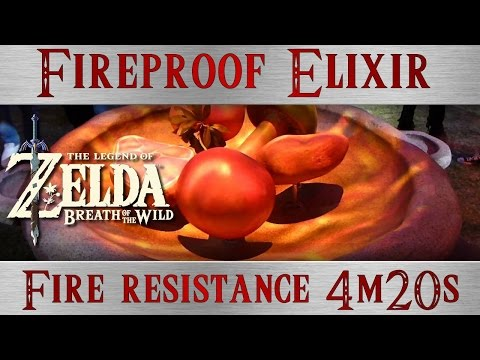 How to make fireproof elixir in zelda breath of the wild