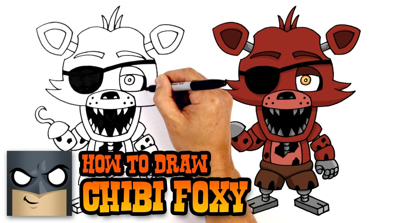 How To Draw Foxy Five Nights At Freddys