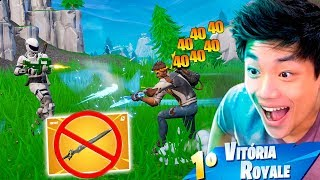 TIREI X1 CONTRA A ESPADA DO INFINITO!! FORTNITE: BATTLE ROYALE