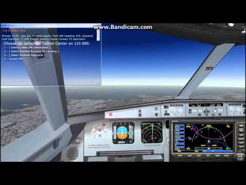 FSX Full Flight EVRA to EFHK Finnair airbus A320