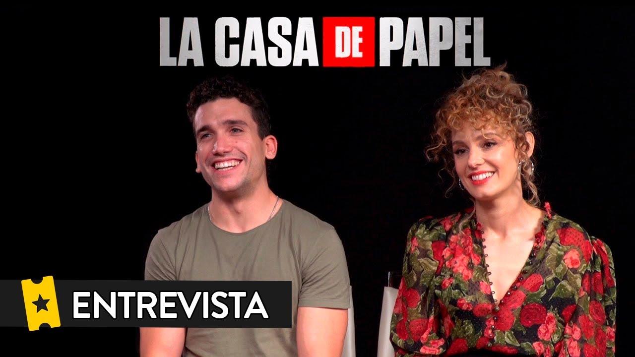 LA CASA DE PAPEL (Temporada 3)   Entrevista a Jaime Lorente y Esther Acebo