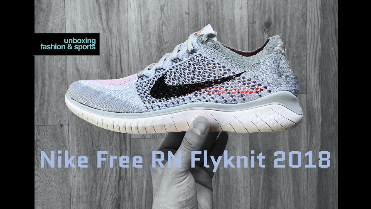 online store 2443c bb655 Nike Free RN Flyknit  pure platinum blk-wht    UNBOXING   ON FEET   running  shoes   2018   4K