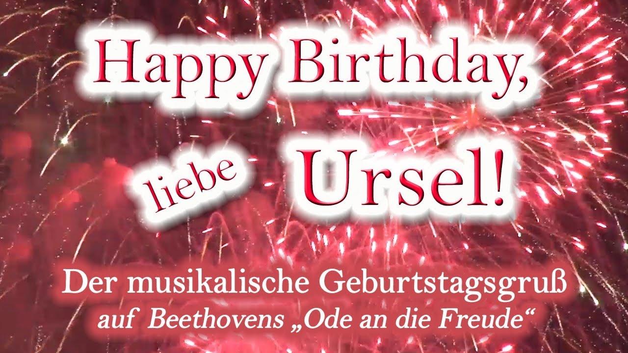 happy birthday, liebe ursel! alles gute zum geburtstag! - youtube