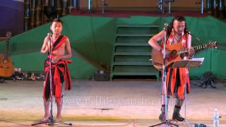 Naga folk blues chief Rewben Mashangva and his son in action!