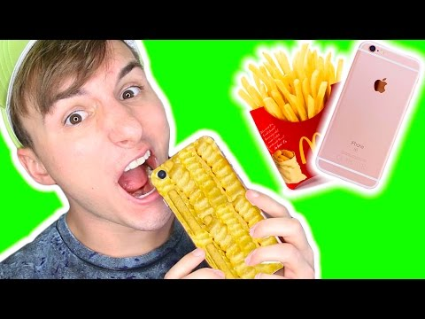 DIY EDIBLE FRENCH FRY PHONE CASE