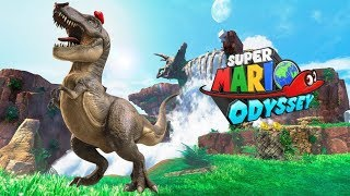 Super Mario Odyssey - Gameplay Walkthrough Part 2 - Cascade Kingdom Fossil Falls (Nintendo Switch)