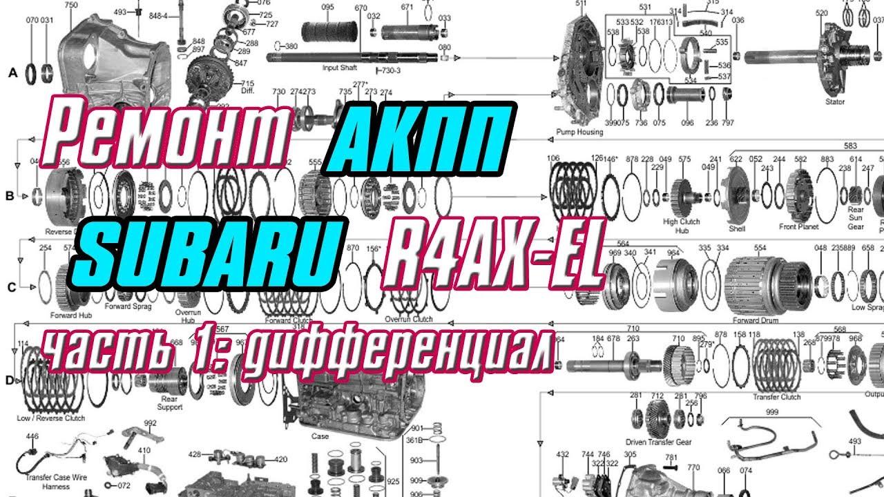 Ремонт АКПП SUBARU R4AX-EL часть 1: Дифференциал