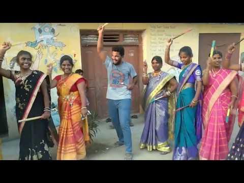 My Village Show Anil Anna Dancing !! Bathukamma Kolatam