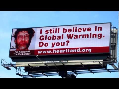 "LIVE ~ Heartland Institute ""Unabomber"" Billboard ~ DogStar7 EXCLUSIVE"