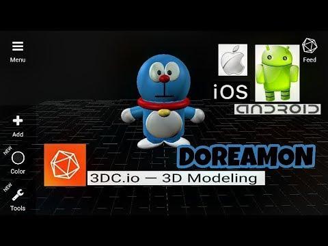 3DC.io Doraemon 3d Modelling  Tutorial Android/Ios