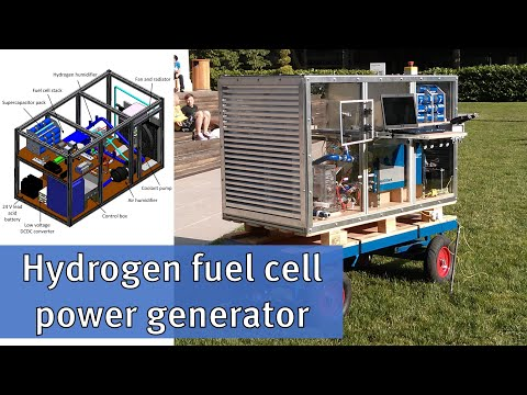 How to make a hydrogen fuel cell power generator