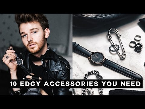 10 Edgy Accessories Every Guy Needs for 2017 - MUST HAVES!