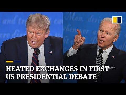Interruptions and insults dominate first Trump-Biden US presidential debate