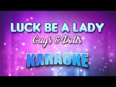 Guys & Dolls - Luck Be A Lady (Karaoke & Lyrics)