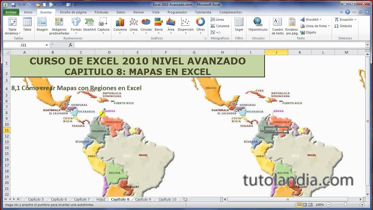 Excel Avanzado 81 Mapas Regionales