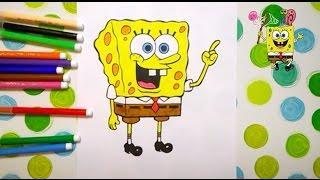 Губка БОБ супер розмальовки для дітей /супер раскраски для детей  / kids coloring pages Spange BOB