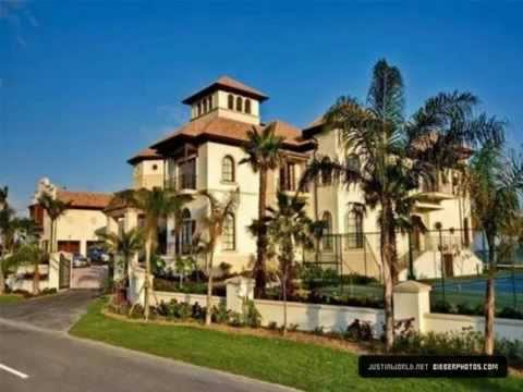 Justin bieber 39 s new house on mtv youtube for Big mansion homes for sale