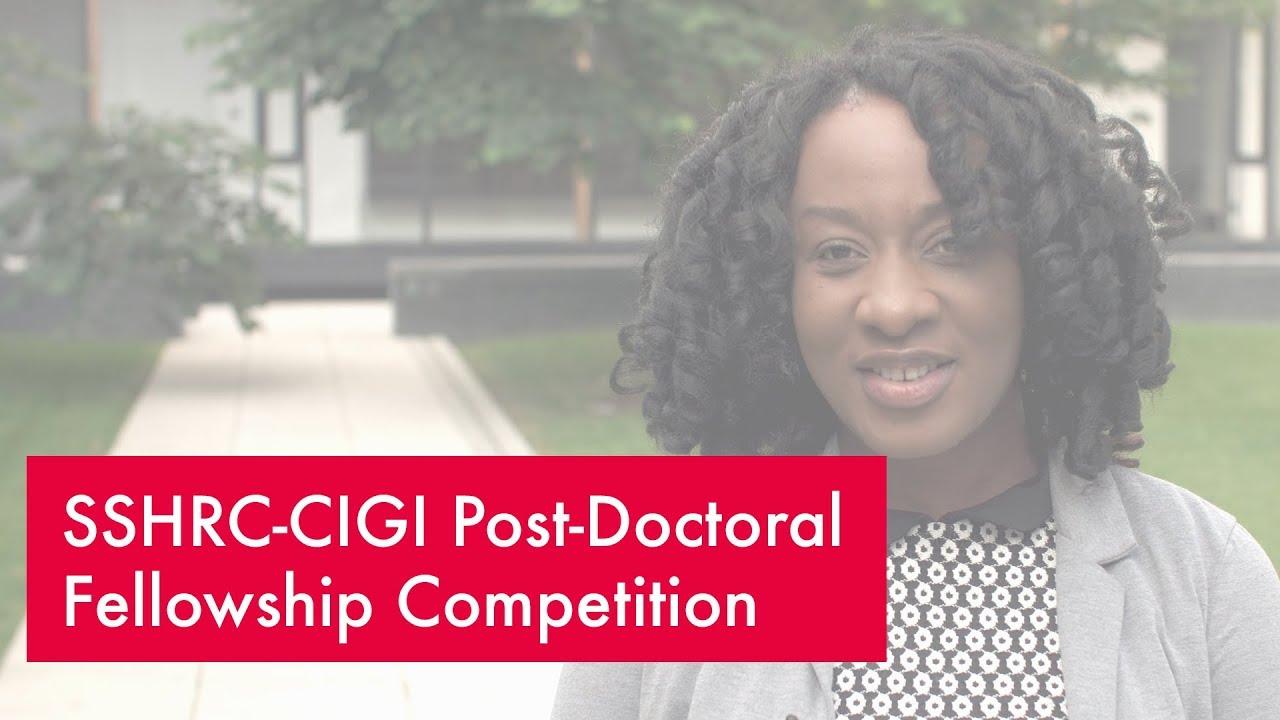 2018 SSHRC-CIGI Post-Doctoral Fellowship Competition