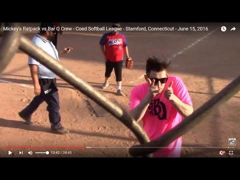 Mickey's Ratpack vs Bar Q Crew - Coed Softball League - Stamford, Connecticut - June 15, 2016