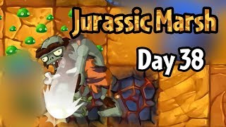 Plants vs Zombies 2 - Jurassic Marsh Day 38: Jurassic Rockpuncher   Electric Peashooter in Wild West